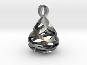 A precious tear [pendant] in Polished Silver