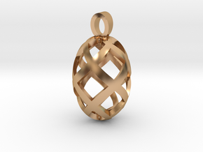 Seed openwork [pendant] in Polished Bronze