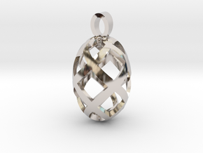 Seed openwork [pendant] in Rhodium Plated Brass