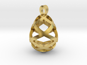 Egg openwork [pendant] in Polished Brass