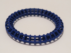 Bangle Bracelet Ribbed in Blue Processed Versatile Plastic