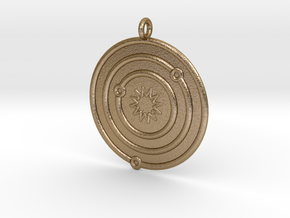 Astronomy Symboll in Polished Gold Steel