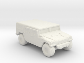 M1035a1 Hardtop 285 scale in White Natural Versatile Plastic
