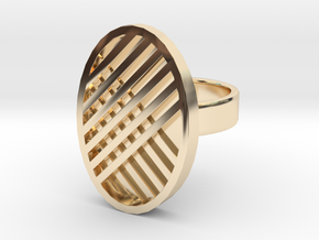 One Stripe Ring in 14k Gold Plated Brass: 4 / 46.5