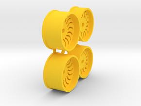 Offset-0,5-Sickle-Rims-MiniZ-AWD in Yellow Processed Versatile Plastic