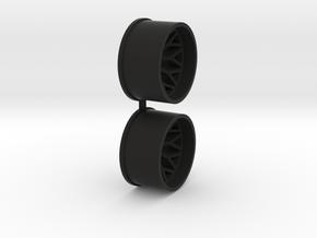 Offset-3,0-rear-BBS-Rims-MiniZ-AWD in Black Premium Versatile Plastic