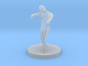Zombie Missing a Foot (28mm Scale Miniature) in Smooth Fine Detail Plastic