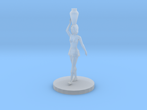 Woman with Vase on Her Head (28mm Scale Miniature) in Smooth Fine Detail Plastic