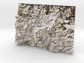 Ullswater in Rhodium Plated Brass