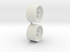 Offset-2,0-rear-Polygon-Rims-MiniZ-AWD in White Natural Versatile Plastic