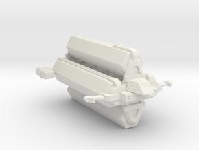 Omni Scale Kzinti Heavy Freighter (Class-IV) SRZ in White Natural Versatile Plastic