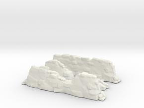 Stone Wall Ruins Sprue  in White Natural Versatile Plastic