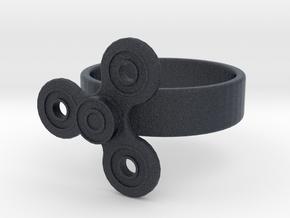 Fidget Spinner Ring in Black PA12: 4 / 46.5