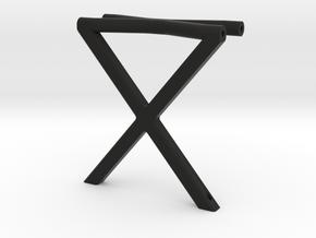 ZRD Rear Vertical X Brace in Black Natural Versatile Plastic