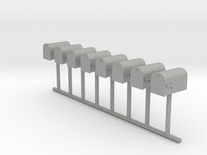 HO Scale Mailbox Set 1 in Aluminum