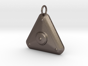 New High Profile MicroTriangular Craft Pendant in Polished Bronzed-Silver Steel