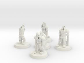 Guardsmen Thralls (28mm Scale Miniature) in White Natural Versatile Plastic