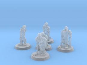 Guardsmen Thralls (28mm Scale Miniature) in Smooth Fine Detail Plastic
