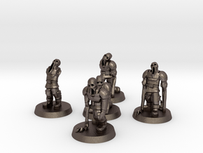 Guardsmen Thralls (28mm Scale Miniature) in Polished Bronzed-Silver Steel