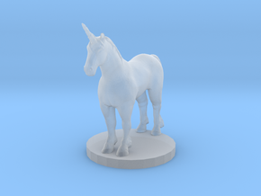 Standing Unicorn in Smooth Fine Detail Plastic