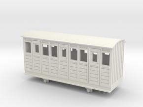 Bandai OO9 Scale Narrow Gauge Coach - Type 1 in White Natural Versatile Plastic