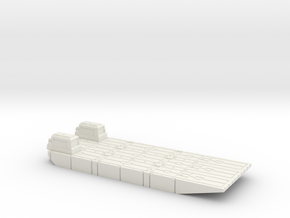 1/72 Small Mexeflote powered in White Natural Versatile Plastic