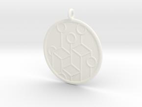 Ecology Symbol in White Processed Versatile Plastic