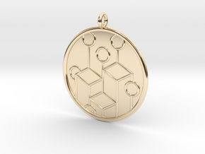 Ecology Symbol in 14k Gold Plated Brass