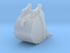 1:50 Trench Bucket +Spade teeth for 20T excavators in Smooth Fine Detail Plastic
