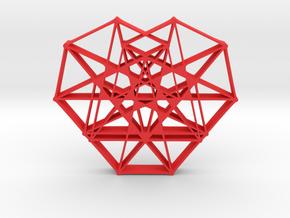 Heptaheart Hangerless Pendant in Red Processed Versatile Plastic