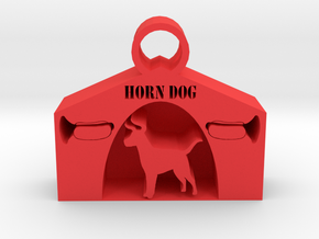 Horndog pendant in Red Processed Versatile Plastic