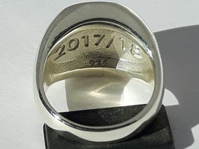 Champions Ring Size R. 18.75mm. Silver. in Polished Silver