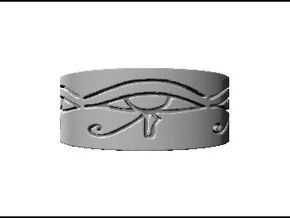 Egyptian Eye Of Horus Ring Size 6 in Stainless Steel