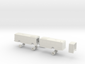 HO Scale Bus Neoplan AN460 Houston 4400s in White Natural Versatile Plastic