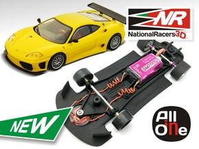 3D Chassis - Ninco Ferrari Modena 360 (Inline AiO) in Black Natural Versatile Plastic