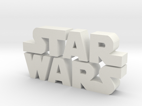 Star Wars Logo in White Natural Versatile Plastic