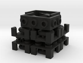 Dungeon Furnishing Set in Black Natural Versatile Plastic