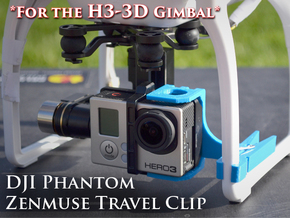 ZenClip - DJI Phantom 2 - Zenmuse H3-3D in White Strong & Flexible