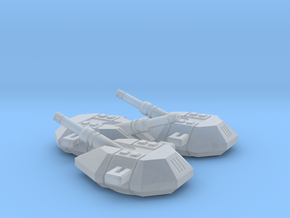 Artillery Turrets (3) in Smooth Fine Detail Plastic