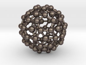 Buckyball (minimum size 0.8mm) in Polished Bronzed-Silver Steel