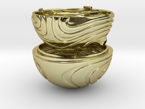 """Coral Snitch"" Ring Box (NEW MODEL) in 18k Gold"