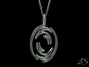 Portal Pendant in Polished Silver
