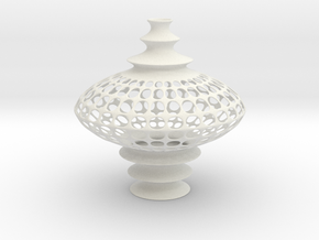 Vase WK1408 (downloadable) in White Natural Versatile Plastic