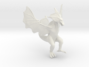 Omni Scale Space Dragon Ancient Female MGL in White Natural Versatile Plastic