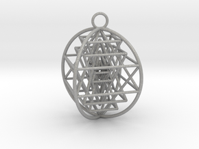 3D Sri Yantra 4 Sided Optimal in Aluminum