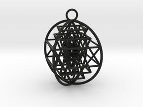 3D Sri Yantra 4 Sided Optimal in Black Premium Versatile Plastic