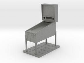 Trophy - Mini Pinball Cabinet v4 - 1:20 Scale in Gray PA12