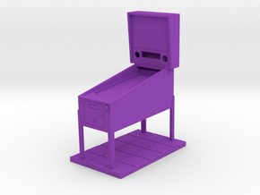 Trophy - Mini Pinball Cabinet v4 - 1:20 Scale in Purple Processed Versatile Plastic
