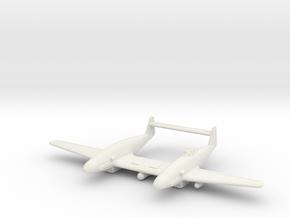 (1:144) Messerschmitt Me 309 Zw in White Natural Versatile Plastic