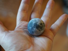 Moon with relief 1:100 million in Natural Full Color Sandstone